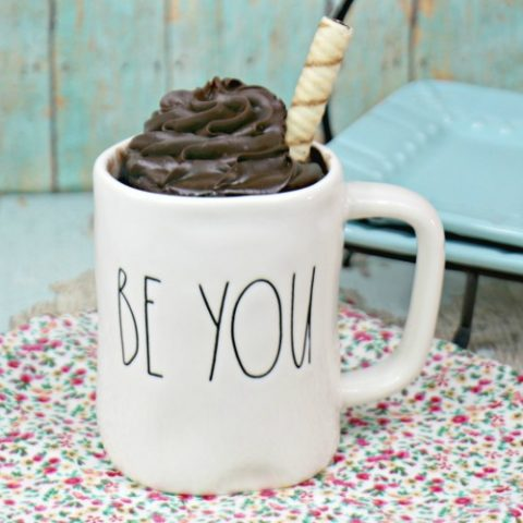 NO EGG Chocolate Mug Cake for Two