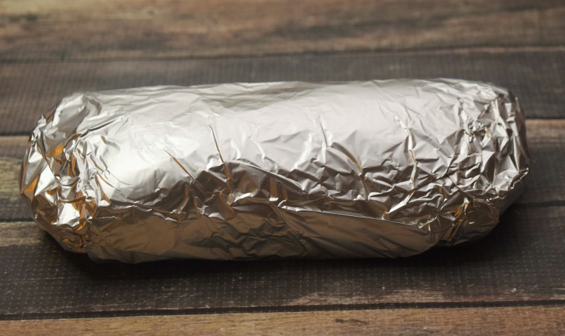 Finished Easy Steak Burrito