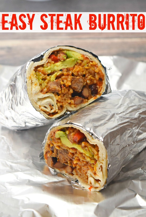 Forget Chipotle or Freebirds and make your own burritos at home, even if you just have a microwave! It's simple and easy to make ahead, too!