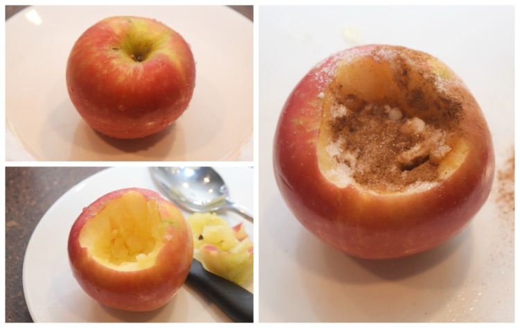 How to make a microwave baked apple
