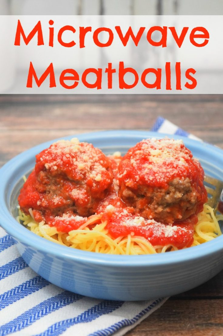 Make a small batch of homemade meatballs right in the microwave. In about 15 minutes you can have Microwave Meatballs and Pasta for dinner!