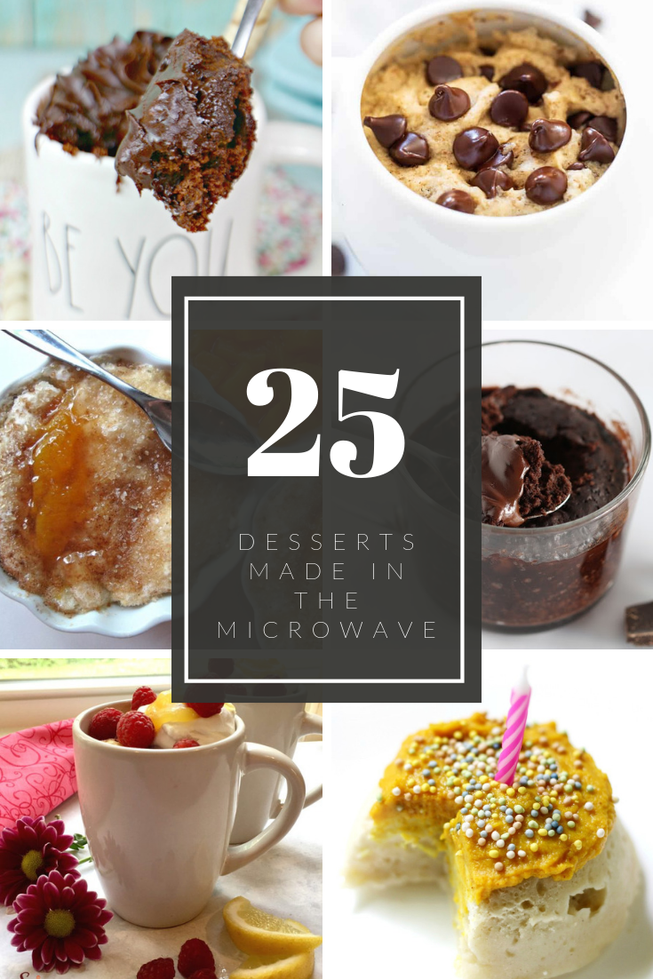 Looking for a single serving dessert? Check out these delicious 25 desserts you can make in the microwave in a single serving!