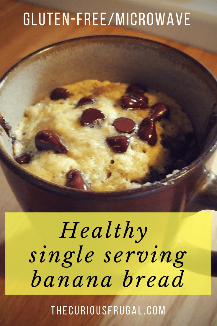 Healthy single serving banana bread (gluten-free!) - The Curious Frugal
