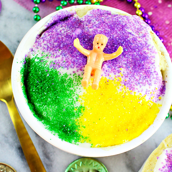 Easy King Cake Recipe for One