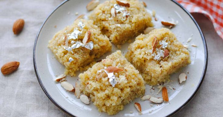 5 Ingredient Badam Burfi