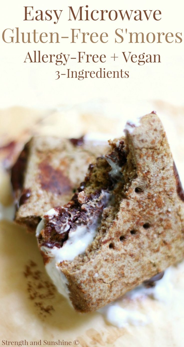 Easy 3-Ingredient Microwave Gluten-Free S'mores (Allergy-Free, Vegan)