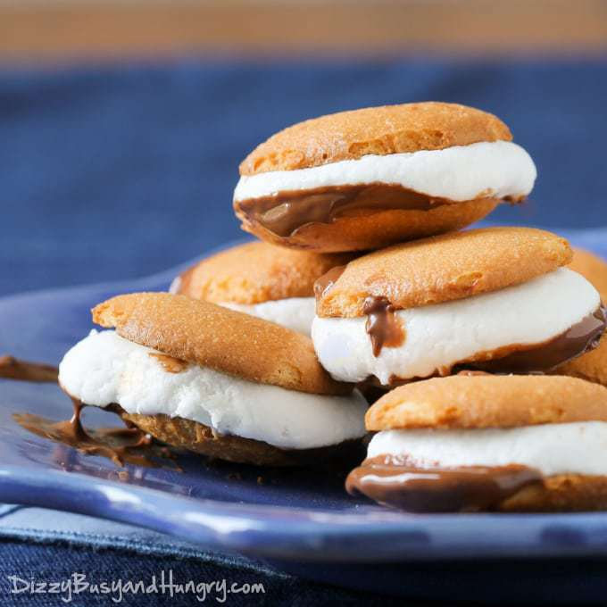 Vanilla Wafer Microwave S'mores