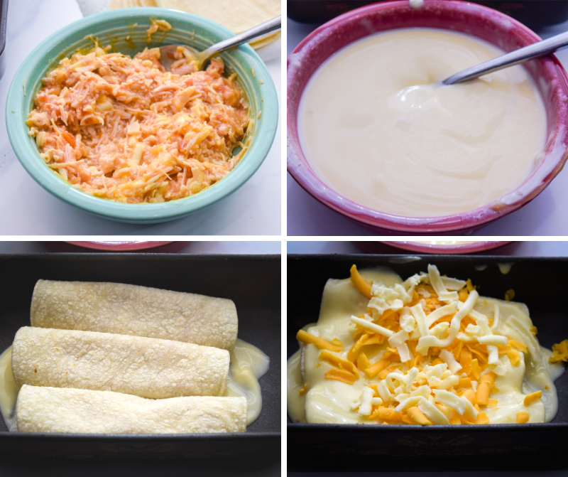 How to make Microwave Chicken Enchiladas