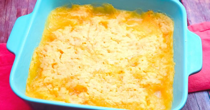 Microwave 3-Ingredient Peach Cobbler
