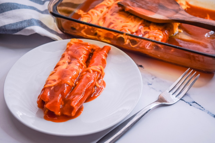 The EASIEST Beef Enchiladas in the Microwave