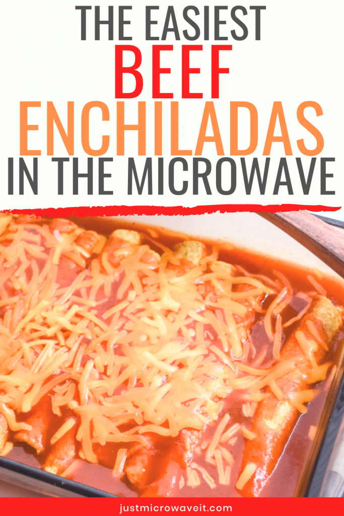 A casserole dish full of beef enchiladas.
