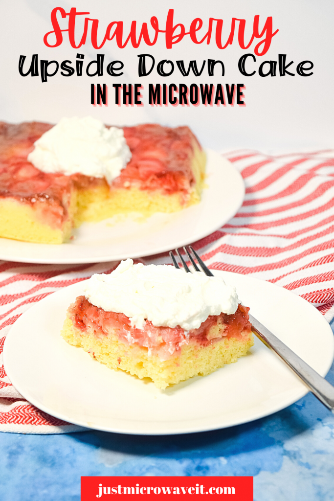 Title image for Microwave Strawberry Upside Down Cake