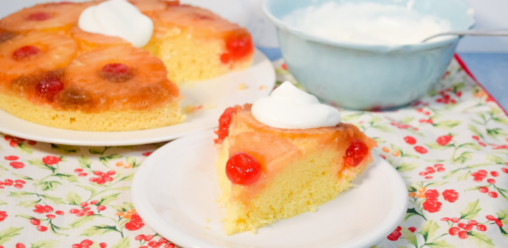 Pineapple Upside Down Cake in the Microwave